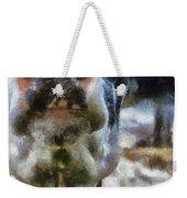 Cow Kiss Me Photo Art Weekender Tote Bag