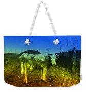 Cow On Lsd Weekender Tote Bag