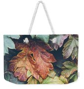 Cow Parsnip Leaves In The Fall Weekender Tote Bag