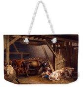 Cow Shed Weekender Tote Bag
