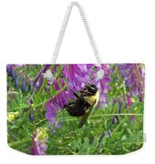 Cow Vetch Wildflowers And Bumble Bee Weekender Tote Bag