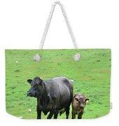 Cow With Calf On Thorpe Hillside Weekender Tote Bag