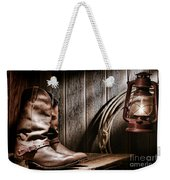 Cowboy Boots In Old Barn Weekender Tote Bag