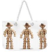 Cowboy Box Characters On White Weekender Tote Bag