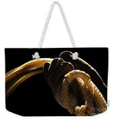 Cowboy Hand Holding Lasso Weekender Tote Bag by Olivier Le Queinec