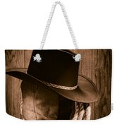Cowboy Hat And Boots Weekender Tote Bag by Olivier Le Queinec