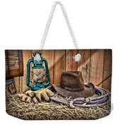 Cowboy Hat And Rodeo Lasso Weekender Tote Bag by Paul Ward