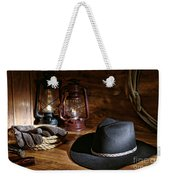 Cowboy Hat And Tools Weekender Tote Bag
