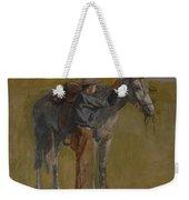 Cowboy In The Badlands Weekender Tote Bag