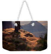 Cowboy On A Cliff Weekender Tote Bag
