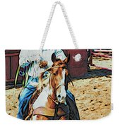 Cowboy On Paint Weekender Tote Bag