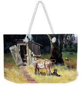 Cowboy On The Outhouse  Weekender Tote Bag