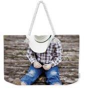 Cowboy Weekender Tote Bag by Scott Pellegrin