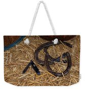 Cowboy Theme - Horseshoes And Whittling Knife Weekender Tote Bag