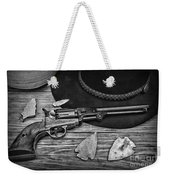 Cowboys And Indians In Black And White Weekender Tote Bag