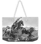 Cowboys And Longhorns Weekender Tote Bag