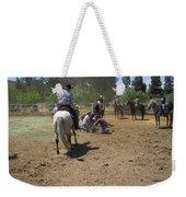 Cowboys At The Branding Weekender Tote Bag