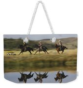 Cowboys Riding With Dogs Oregon Weekender Tote Bag