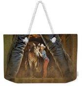 Cowgirl And Cowboy Weekender Tote Bag