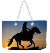 Cowgirl At Sunrise Weekender Tote Bag