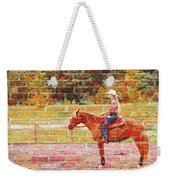 Cowgirl In Bricks Weekender Tote Bag