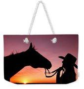 Cowgirl Sunset Weekender Tote Bag