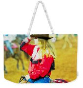 Cowgirl Waiting Weekender Tote Bag