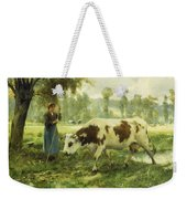 Cows At Pasture  Weekender Tote Bag
