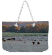 Cows At Sunrise Weekender Tote Bag