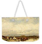 Cows Crossing A Ford Weekender Tote Bag