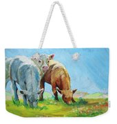 Cows Landscape Weekender Tote Bag