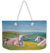 Cows Lying Down Painting Weekender Tote Bag