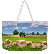 Cows On The Green Field Weekender Tote Bag