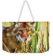 Coyote In The Aloe Weekender Tote Bag