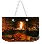 Cozy By The Fire Weekender Tote Bag