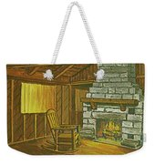 Cozy Fireplace At Lake Hope Ohio Weekender Tote Bag