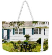 Cozy Little Back Yard Terrace With Table And Chair Weekender Tote Bag