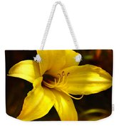 Cozy Yellow Daylily Weekender Tote Bag