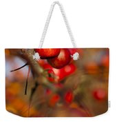 Crab Apple Bright Weekender Tote Bag