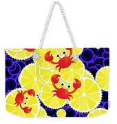 Crabs On Lemon Weekender Tote Bag