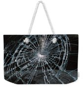 Cracked Glass Of Car Windshield Weekender Tote Bag