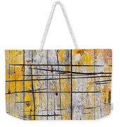 Cracked Wood Background Weekender Tote Bag by Carlos Caetano
