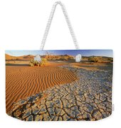Cracking Dirt And Dunes Namib Desert Weekender Tote Bag