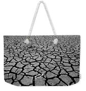 Cracks For Miles Black And White Weekender Tote Bag