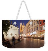 Cracow By Night In Poland Weekender Tote Bag