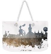 Cracow City Skyline Weekender Tote Bag