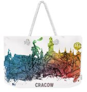 Cracow City Skyline Map Weekender Tote Bag