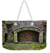 Craigsmillar Castle Kitchen Fireplace Weekender Tote Bag