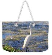 Crane At Pond Weekender Tote Bag