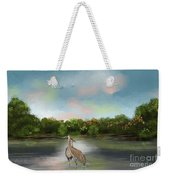 Crane Habitat Weekender Tote Bag